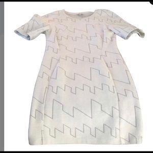 Kenzo rib geo pattern dress